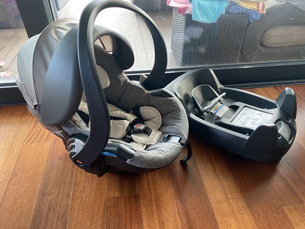 Ovo babycoque cadeira auto Besafe Stokke base isofix