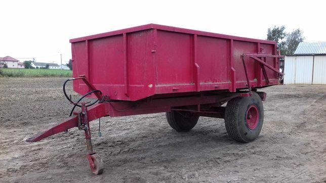 Przyczepa rolnicza jednoosiowa wywrot 6 ton