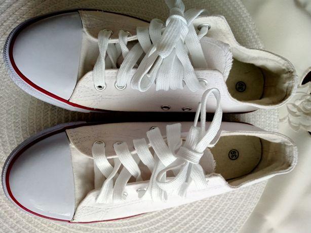 Białe trampki 39 r