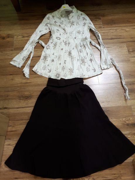 Zestaw odzież ciążowa L bluzka i spódnica L.Dla przyszłej mamy.markowe
