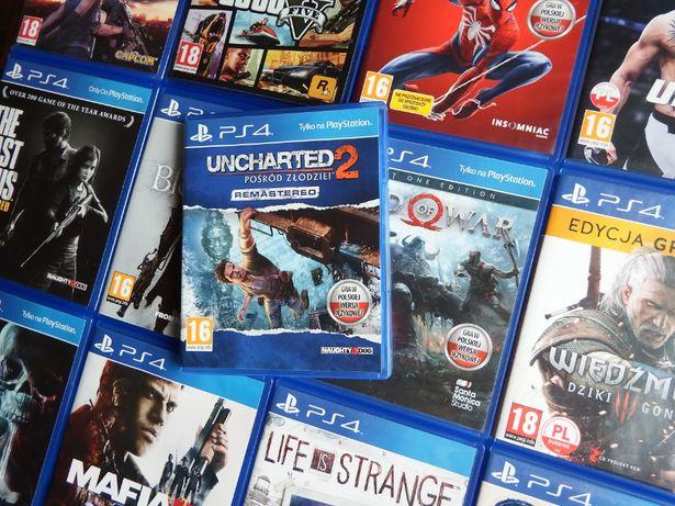 PS4 Uncharted 2 PL inne PS4 GOW Wiedźmin 3 Last Of Us GTA 5 Until Dawn
