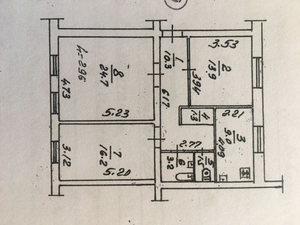 Продам 3-х комнатную квартиру 80кв.м , площадь Зыгина