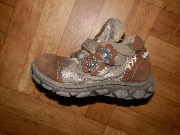 ботинки демисезонные кожаные на девочку раз. 23