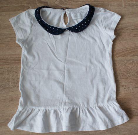 Bluzeczki z krótkim rękawem r.116 komplet