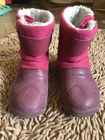 Теплые ботинки, резиновый низ, Qucchua