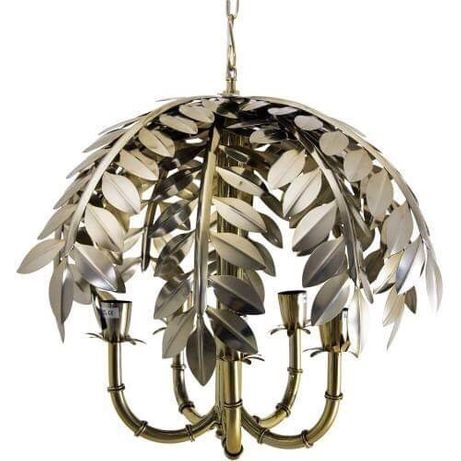 Lampa Palm Tree Artelore liście metalowa