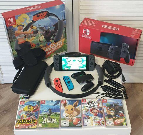Nintendo Switch V2 MEGA ZESTAW