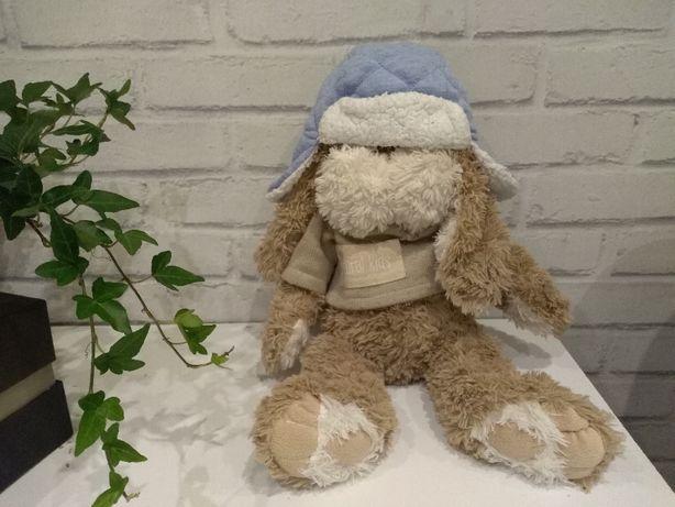 czapka zimowa niemowlęca z kożuszkiem 45