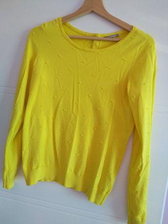 Sweterek żółty elegancki Orsay 34