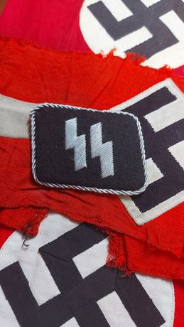 Collar-tab SS excelente réplica Alemanha nazi-suástica