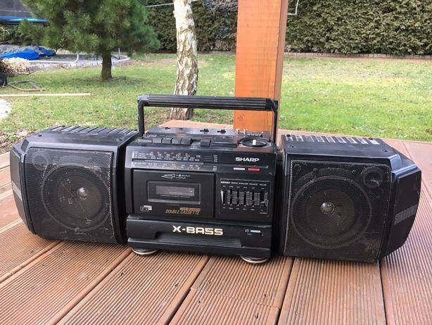 Radiomagnetofon radio SHARP WF-T380H Boombox surround wysyłka.