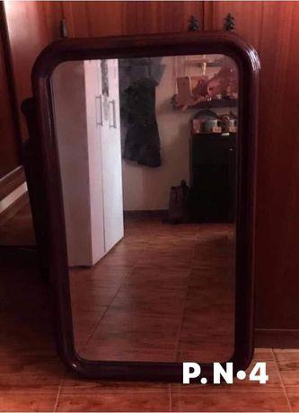 Espelho 98 X 60cm Madeira maciça