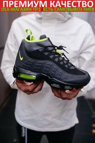 """Кроссовки Nike Air Max 95 Sneakerboot Termo """"Black/Violt"""" Осень/Зима"""