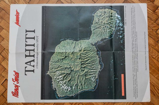 Tahiti - mapa satelitarna Poznaj Świat