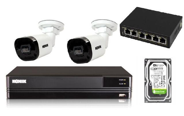 Zestaw kamer IP z rejestratorem Kenik