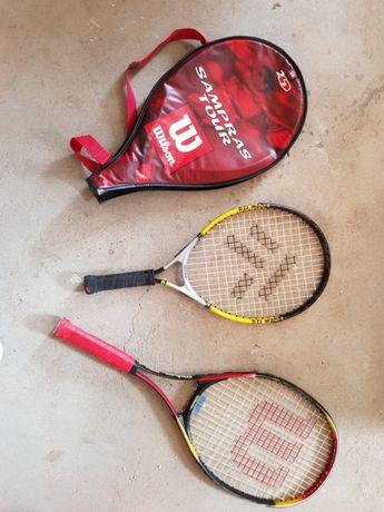 Raquete wilson + tecno (tenis e squash)
