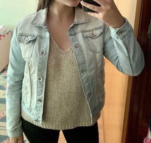 casaco de ganga ZARA