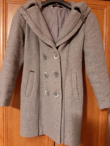 płaszcz szary zimowy