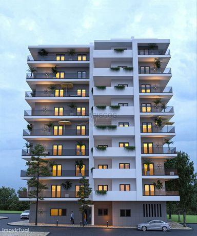Apartamento T2 - Barbecue - Sala com Cozinha Open Space - Piso Radiant
