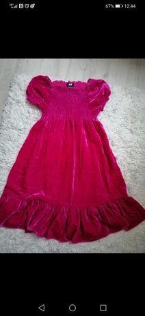 128 sukienka malinowa