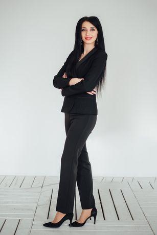Брючний костюм чорний
