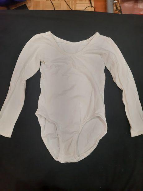 Białe body baletowe, rozmiar 128