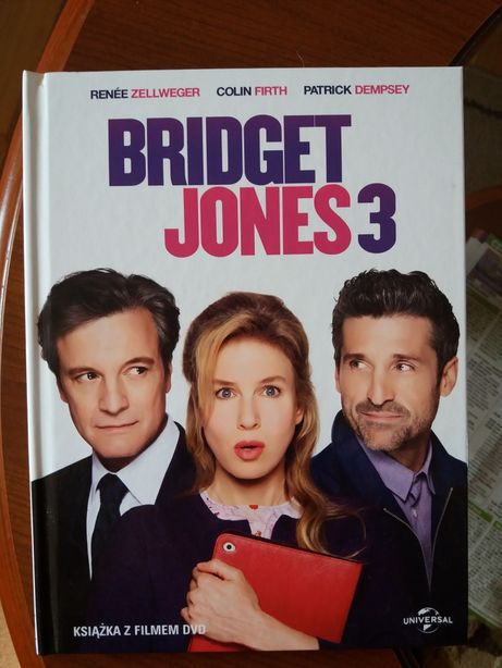 NOWY Film DVD Bridget Jones 3  z książką