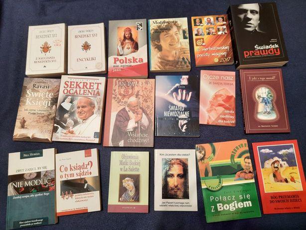 Książki religijne ok. 200 pozycji