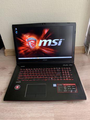 MSI GE72VR i7 7700, 16gb, 256 ssd +1000, 1060 geforce игровой