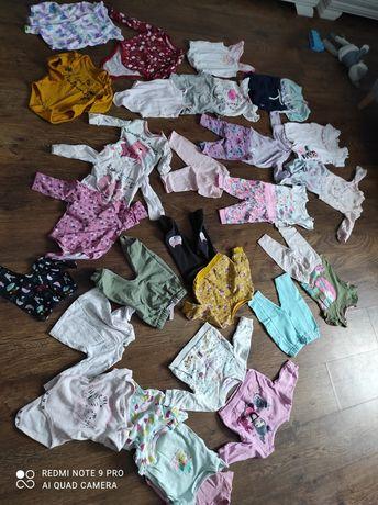Ubrania dla dziewczynki rozmiar 68