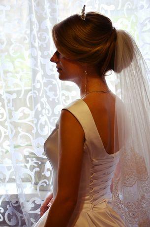 Весільна сукня атлас