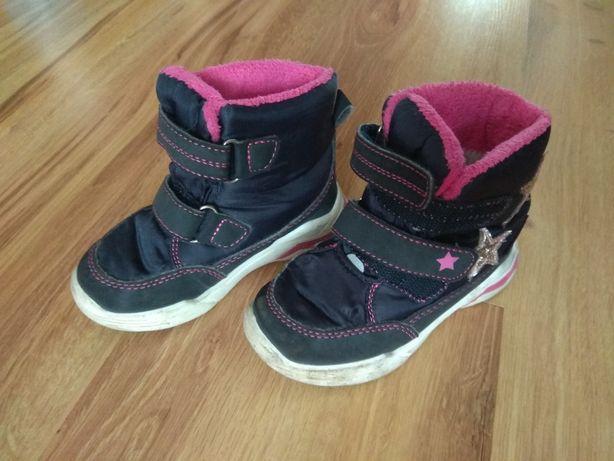 Buty zimowe dla dziewczynki r. 23