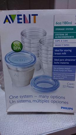 Avent 180мл контейнеры для хранения грудного молока