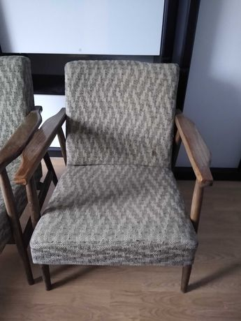 Dwa fotele prl cena za sztuke