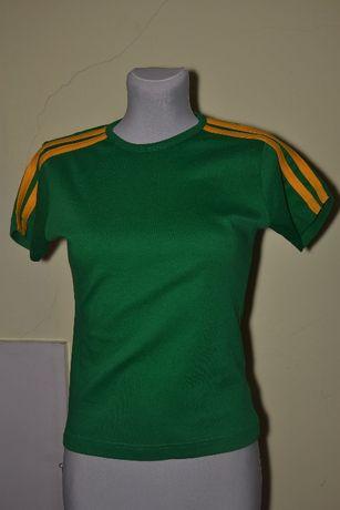 NOWE M bawełniane damskie koszulki z lampasami