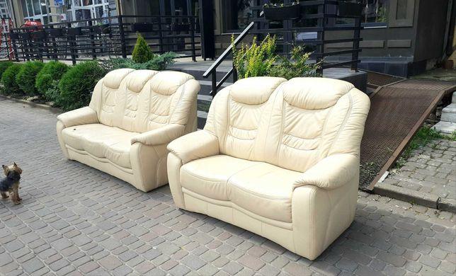Кожаный комплект мебели 3+2.Германия.Long Life.