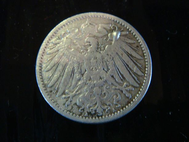 Moneta srebrna 1 marka z 1901 r. niezwykła