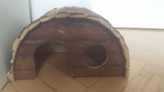 Drewniany Domek dla gryzoni i królików
