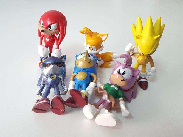 LU112 6 Miniaturas Sonic 6cm Bonecos Criança