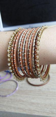 Bransoletki szklane indyjskie Bollywood bransoletka biżuteria indyjska