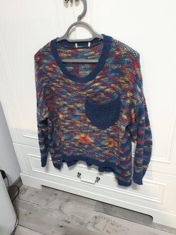 Genialny sweterek plecionka M