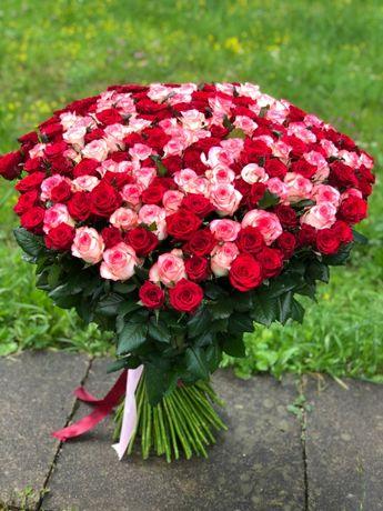 Доставка квітів 101 роза, букети троянди, квіти опт та роздріб