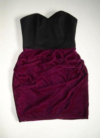 czarno bordowa sukienka asos 10 s
