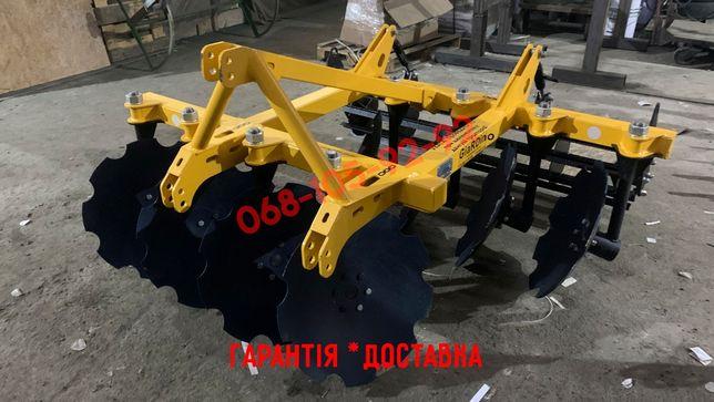 Дискова борона до міні трактора (садова борона) 1,3 або 1,6 (АГ, АГД)