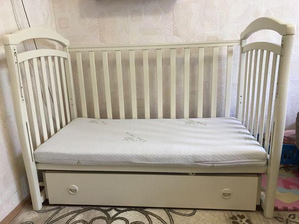 Дитяче ліжечко Верес VERES колиска біла