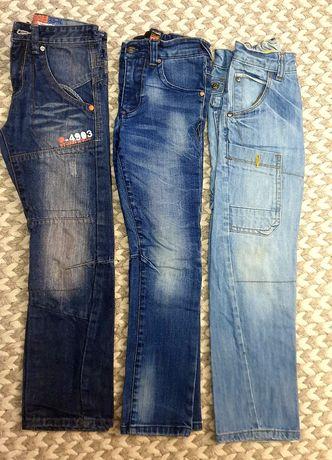 Trzy pary jeansy Next roz. 122