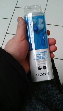 Słuchawki Sony douszne niebieskie