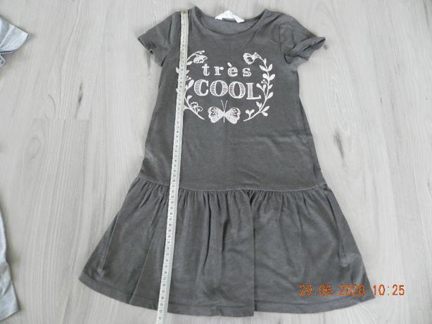 sukienka h&m 110/116 szara