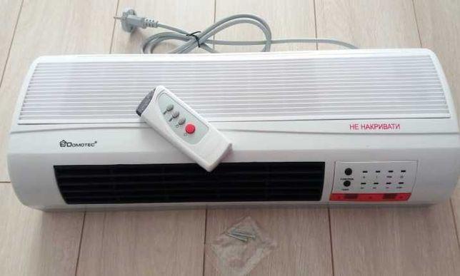 Обогреватель настенный, тепловентилятор Domotec 2000W до 25 кв. м