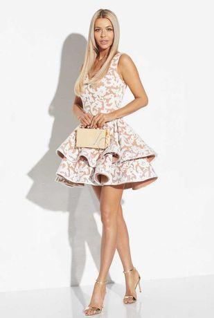 Sukienka Lou nougat L